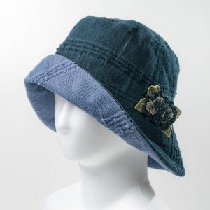 リバ-シブル帽子(ブラック×グレー)