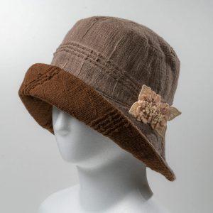 リバ-シブル帽子(モカ×ブラウン)